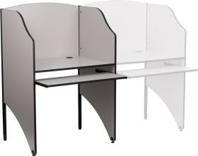Starter Study Carrel in Nebula Grey Finish [MT-M6201-GY-GG]