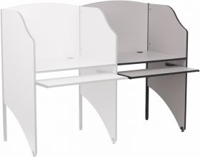 Add-On Study Carrel in Nebula Grey Finish [MT-M6202-GY-ADD-GG]