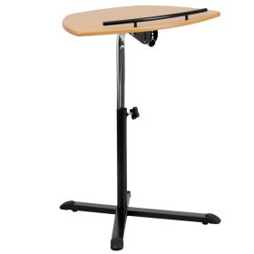 Height Adjustable Natural Laptop Computer Desk [NAN-LT-04-GG]