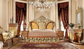 Naranja Traditional Bedroom Set in Golden Tan