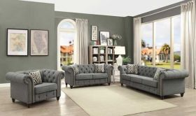 Ncos Traditional Living Room Set in Gray
