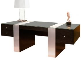 Evanston Modern Office Desk Set in Wenge