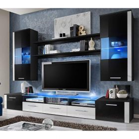 "Nevada Modern 98"" Wall Unit Entertainment Center"