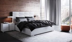Nicolau Modern Upholstered Storage Bed in White