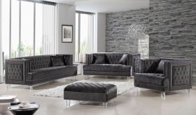 Norse Contemporary Living Room Set in Gray