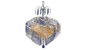 North Contemporary 8 Lights Hanging Fixture Chandelier in Chrome Finish