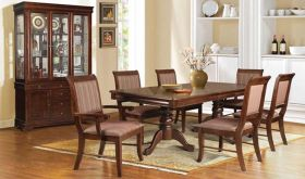Norwegian Traditional Dining Room Set in Espresso