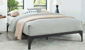 Ollie Modern Bed Frame in Brown