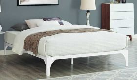 Ollie Modern Bed Frame in White