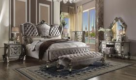 Oundle Traditional Bedroom Set in Antique Platinum
