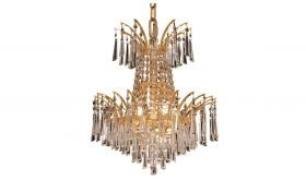 Ovid Transitional 4 Lights Hanging Fixture Chandelier in Gold Finish