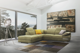 Oxford Modern Left Sectional Sofa in Green