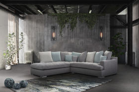 Palerme Modern Left Sectional Sofa in Grey