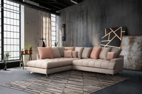Paloma Modern Left Sectional Sofa in Pink