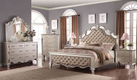 Passaic Traditional Bedroom Set in Light Gold