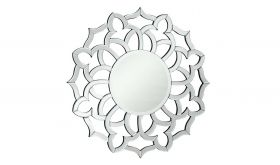 """Patchogue 32"""" Modern Wall Mirror in Clear & White"""