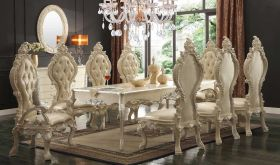 Pattah Traditional Dining Room Set in Ivory