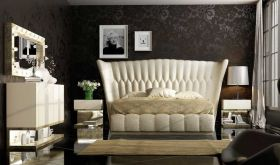 Peekskill Modern Bedroom Set in Black & Beige