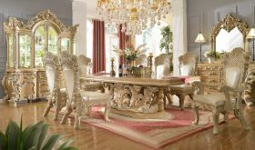 Pennsuco Traditional Dining Room Set in Pickle Frost & Antique Silver