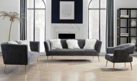 Piedmont Contemporary Living Room Set in Gray