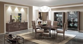 ESF Platinum Slim Dining Set in Grey Gloss