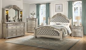 Platinum Contemporary Bedroom Set in Gray