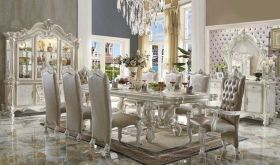 Purbeck Traditional Dining Room Set in Bone White