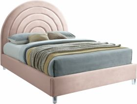 Culver Contemporary Velvet Bed in Pink