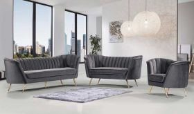 Randall Contemporary Living Room Set in Gray