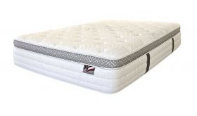 "Reef 14"" Euro Pillow Top Mattress with Gel Memory Foam in White"