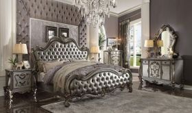 Richmond Traditional Bedroom Set in Antique Platinum