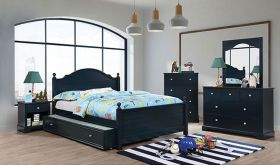 Riga Youth Transitional Bedroom Set in Blue