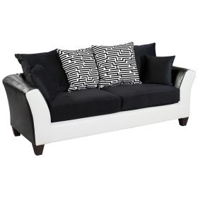 Riverstone Implosion Black Velvet Sofa [RS-4173-02S-GG]