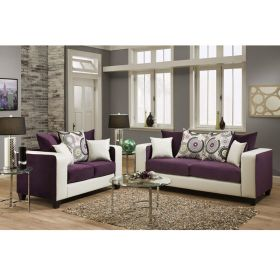 Riverstone Implosion Purple Velvet Living Room Set [RS-4120-05LS-SET-GG]