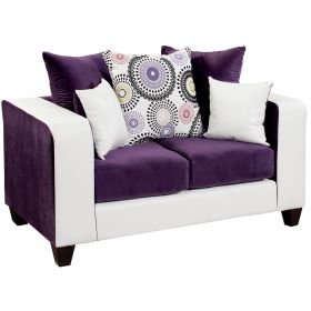 Riverstone Implosion Purple Velvet Loveseat [RS-4120-05L-GG]