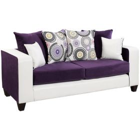 Riverstone Implosion Purple Velvet Sofa [RS-4120-05S-GG]