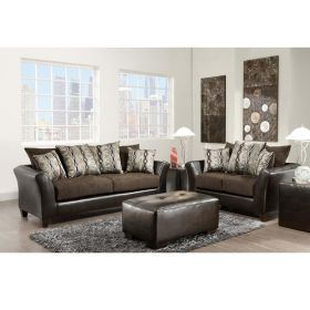 Riverstone Rip Sable Chenille Living Room Set [RS-4173-01LS-SET-GG]