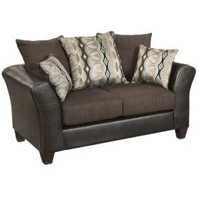 Riverstone Rip Sable Chenille Loveseat [RS-4173-01L-GG]