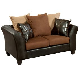 Riverstone Sierra Chocolate Microfiber Loveseat [RS-4170-01L-GG]
