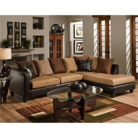 Riverstone Sierra Chocolate Microfiber Sectional [RS-4184-01SEC-GG]