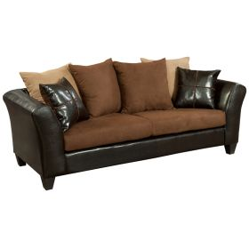 Riverstone Sierra Chocolate Microfiber Sofa [RS-4170-01S-GG]