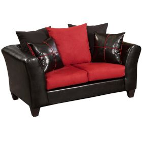 Riverstone Victory Lane Cardinal Microfiber Loveseat [RS-4170-04L-GG]