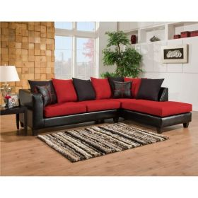 Riverstone Victory Lane Cardinal Microfiber Sectional [RS-4184-04SEC-GG]