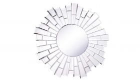 "Rochelle 32"" Modern Wall Mirror in Clear"