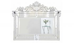Rochester Transitional Wall Mirror in Clear
