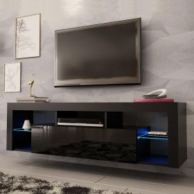 "Rock Modern Wall Mounted Floating 63"" TV Stand"