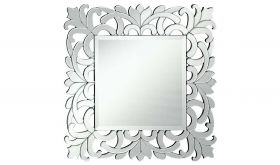 "Ronkonkoma 32"" Modern Wall Mirror in Clear & White"