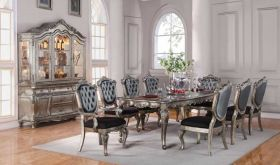 Rother Traditional Dining Room Set in Silver Gray & Antique Platinum