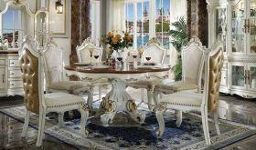 Sada Traditional Dining Room Set in Antique Pearl