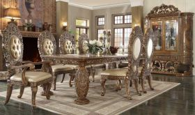 Saga Traditional Dining Room Set in Pearl Beige